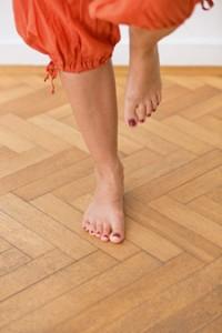 Balanceakt Fußübung