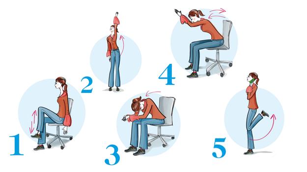 Bürogymnastik Übungen