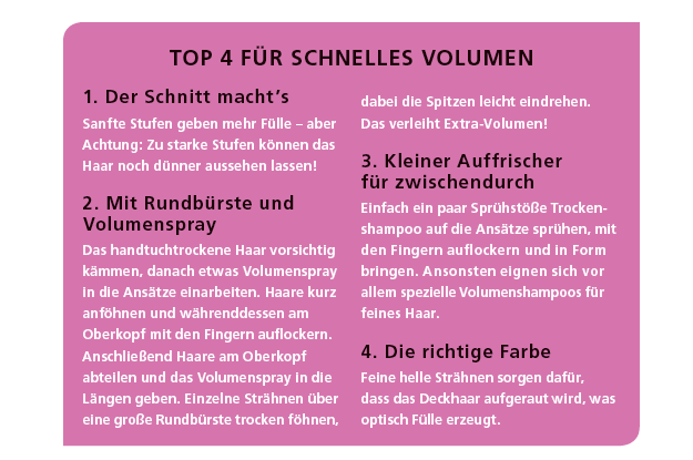 TOP 4 FÜR SCHNELLES VOLUMEN