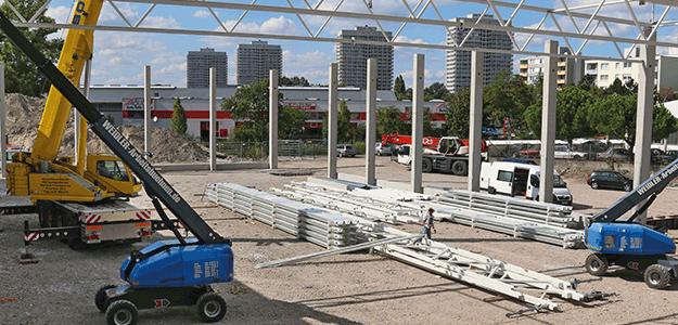 Auf einer Fläche von 2 000 Quadratmetern entsteht hier die neue medpex Halle.