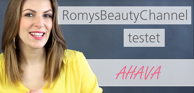 Romy testet im YouTube Video Produkte von Ahava